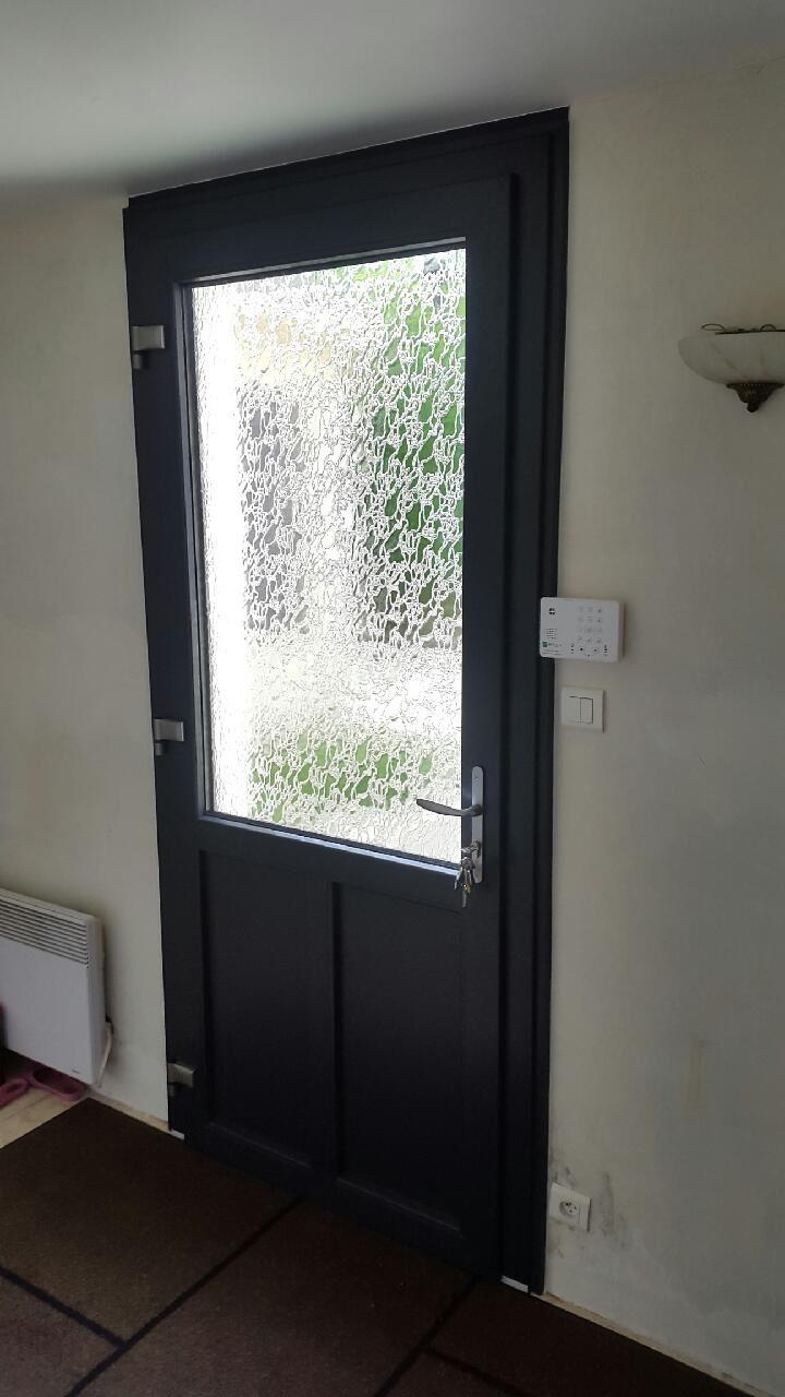 Porte PVC gris 7016 6 Modele CREATIVE