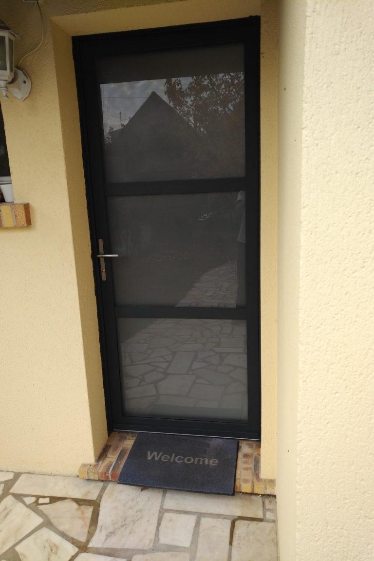 Porte Alu gris 7016 - Modele LONGITUDE 2